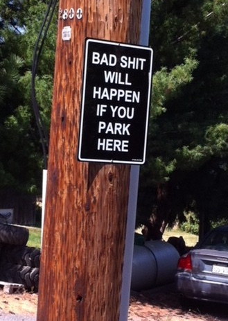 bowers parking sign